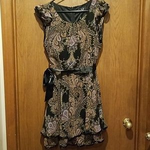 Black Paisley Dress - Size 14